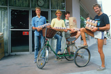 Four Young Men with Cases of Beer, Keywest, FL Photographic Print