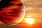 Fantastic Sunset in Alien Planet Photographic Print by  frenta