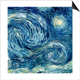 The Starry Night, June 1889 (Detail) Posters by Vincent van Gogh