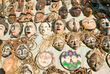 Wooden African Masks for Sale in Cape Town, South Africa Photographic Print