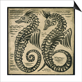 Sea-Horse (W/C on Paper) Print by William De Morgan
