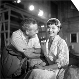 Audrey Hepburn, Filming the Movie Roman Holiday, 1952 Art