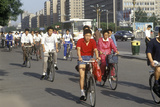 Bicycle Traffic in Beijing in Hebei Province, People's Republic of China Photographic Print
