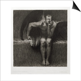 Lucifer, 1892 Prints by Franz von Stuck