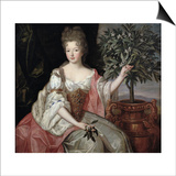 Portrait of Francoise Marie De Bourbon (1677-1749) Duchess of Orleans (Mademoiselle De Blois) Prints by Pierre Gobert