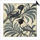 William De Morgan - Bluebirds (W/C on Paper) Obrazy