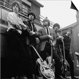 The Roling Stones: Group Pictured Holding Guitars Prints