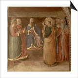 St.Stephen Preaching and St.Stephen Addressing the Council (Fresco) (Detail of 29037) Posters by  Fra Angelico