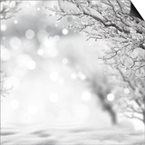 Winter Background Prints by  lilkar