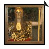 Minerva or Pallas Athena Poster van Gustav Klimt