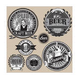 Set Retro Icons to Topic Beer Premium Giclee Print by  111chemodan111