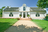 Historic Dutch Cape Architecture at Stellenbosch Wine Region, Outside of Cape Town, South Africa Photographic Print
