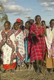 Village People Singing at Sunset in Village of Nairobi National Park, Nairobi, Kenya, Africa Photographic Print