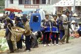Yi Minority People's Marketplace Near Dali, Yunnan Province, People's Republic of China Photographic Print