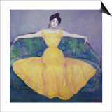 Lady in a Yellow Dress, 1899 Prints by Max Kurzweil