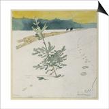 Winter Landscape Art by Carl Larsson