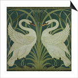 swan, Rush and Iris' Wallpaper Design Prints by Walter Crane