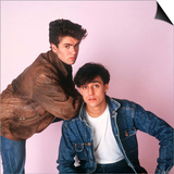 Wham Pop Group George Michael and Andrew Ridgeley Prints