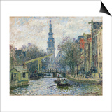 Canal, Amsterdam Prints by Claude Monet