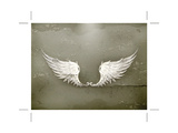 Wings White, Old-Style Vector Prints by Nataliia Natykach
