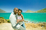 Black Couple on a Visit to Hout Bay, Southern Cape Peninsula, Outside of Cape Town, South Africa Photographic Print