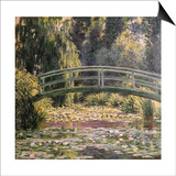 The Japanese Footbridge, Giverny Prints by Claude Monet