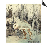 Elves in a Wood Posters by Arthur Rackham