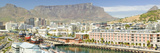Panoramic View of Cape Grace Hotel and Waterfront, Cape Town, South Africa Lámina fotográfica