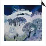 Snowy Night Posters par Lisa Graa Jensen