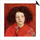 The Irish Girl, 1860 Art by Ford Madox Brown