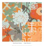 Ginger Blossom I Prints by Sally Bennett Baxley