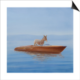 Donkey in a Riva, 2010 Art by Lincoln Seligman