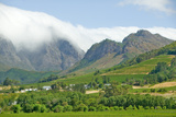 Clouds Cover Mountains in Stellenbosch Wine Region, Outside of Cape Town, South Africa Photographic Print