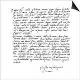 Letter to His Father, Leonardo Di Buonarrota Simoni, at Florence, Contradicting a Rumour of His Prints by  Michelangelo Buonarroti