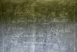Black Board in Schoolhouse Near Tsavo National Park, Kenya, Africa Photographic Print