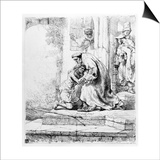Return of the Prodigal Son, 1636 (Etching) Posters by  Rembrandt van Rijn
