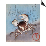 A Crab on the Seashore Prints by Utagawa Kunisada