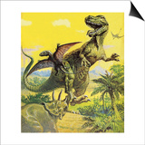 Dinosaurs Prints by  English School