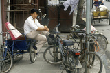 Bicycle for Hire Waiting for Customers in Beijing in Hebei Province, People's Republic of China Photographic Print