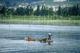 Fishing Boat on Erhai Lake in Dali, Yunnan Province, People's Republic of China Photographic Print
