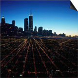 Chicago Skyline at Twilight Print by Bill Ross