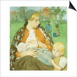 Madonna of the Fields Poster by Gari Melchers