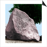 The Jelling Stone Was Erected by King Harald Bluetooth, the First Christian King of Denmark, in Prints