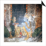 Krishna Sitting with the Gopis (Daughters of the Cowherds) Prints