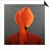 Orange Turban Prints by Lincoln Seligman