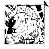 L is for Lion Prints by Yonatan Frimer