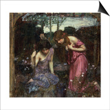 Nymphs Finding the Head of Orpheus Art by John William Waterhouse