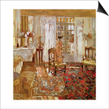 Interior with a Woman in Yellow in Front of a Window Poster von Edouard Vuillard