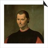 Portrait of Niccolo Machiavelli (1469-1527) (Detail of 62196) Posters by  Santi di Tito