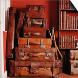 Stack of Antique Leather Suitcases Prints